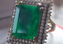 12.25 CT GGL CERTIFICATE UNHEATED EMERALD RING 925: eBay