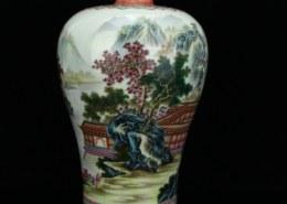 Qing dynasty porcelain vase