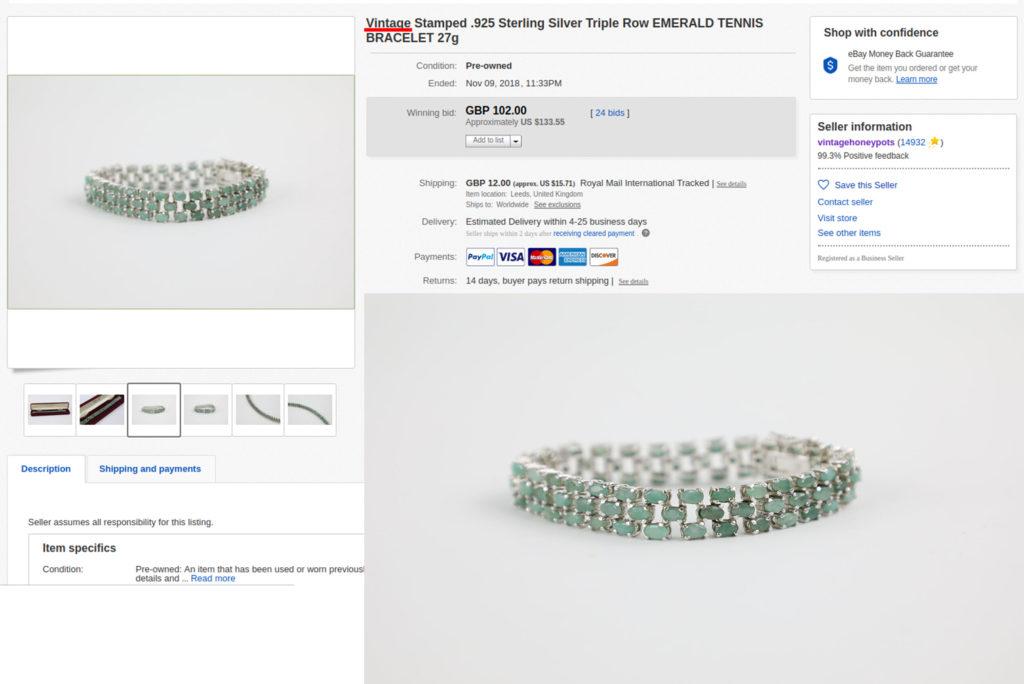 A Contemporary bracelet claimed to be vintage; eBay
