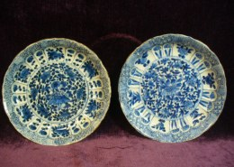2 Antique Chinese Kangxi blue white porcelain plates on eBay. Are they authentic or fake? What about the price?