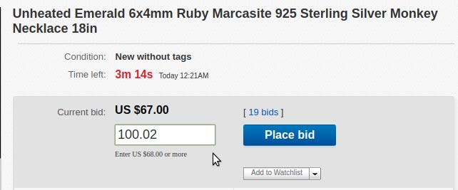 Bid to win strategy on eBay. Step #1