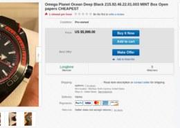 Omega Seamaster Planet Ocean Deep Black on eBay – fake or authentic?