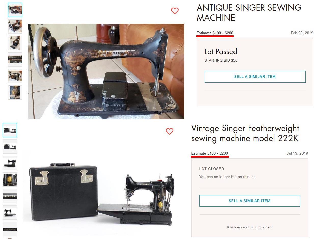 Models older singer machines sewing Which Older