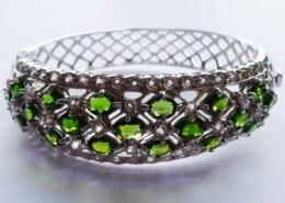 Chrome Diopside Sterling Silver Bracelet on JTV. Is Chrome Diopside expensive?