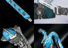Beware of jewelry with FAKE TURQUOISE! It's actually PLASTIC!!!